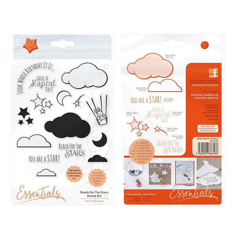 Essentials - Reach For The Stars Clear Stamp Set  - 1658E