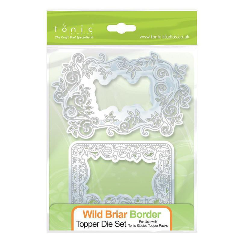 Topper Die Set - Wild Briar Border - 165E