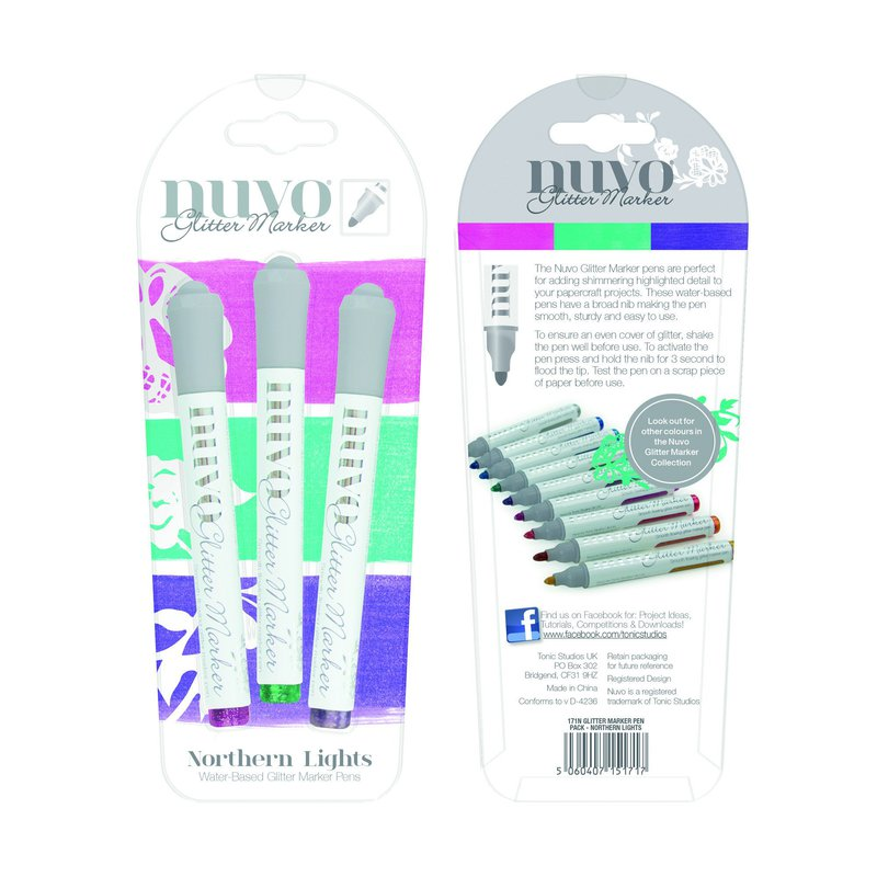 Nuvo - Glitter Markers - Northern Lights - 171n
