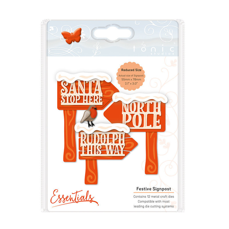 Essentials - Christmas Buildables -  Festive Signpost - 1755E