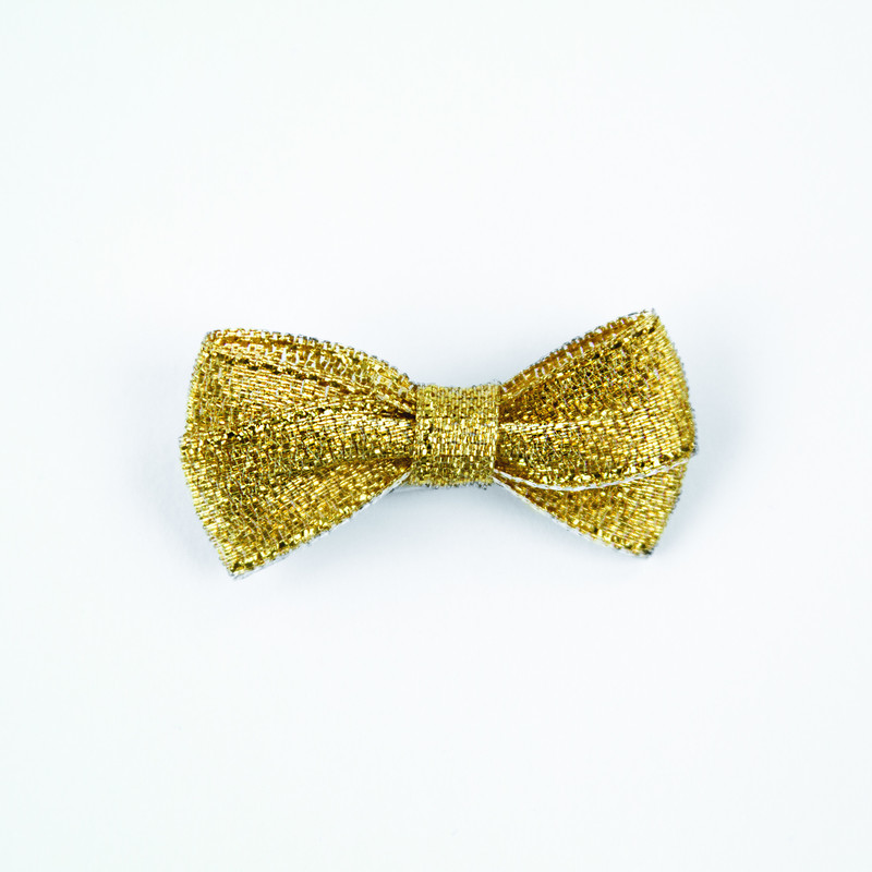 Craft Perfect - Gold Glitter Bows - 1985E