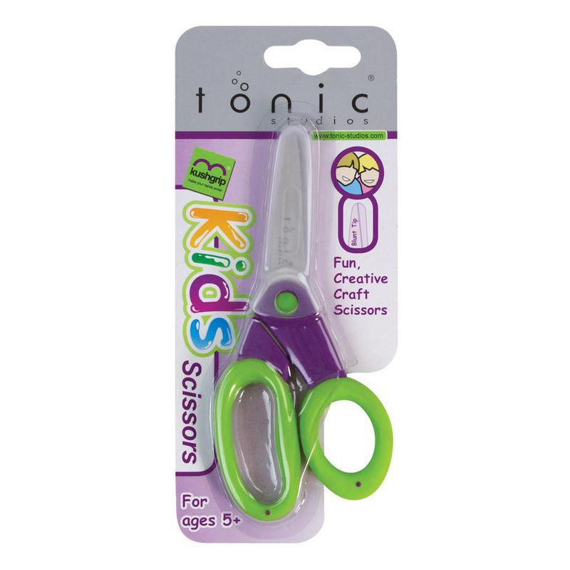 Tonic Studios - Scissors - Kushgrips Kids (Blunt Tip) Blue / Red - 430 / 119e