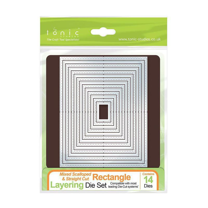 Mixed Rectangle Layering Die Set - 484E
