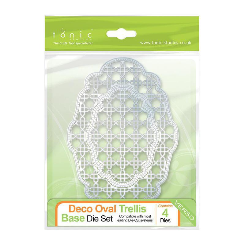 Deco Oval Trellis Base Die Set - 506e