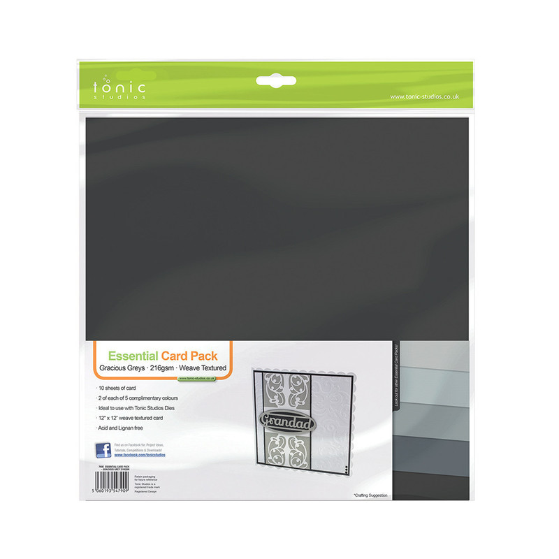 Essential Card Pack - Gracious Grey 216GSM - 790E