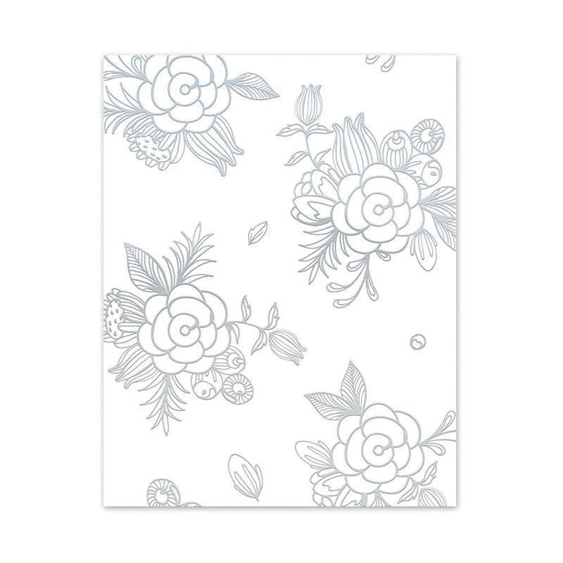 Foiled Card Blanks - Delicate Floral Set (Gold) - 9400E
