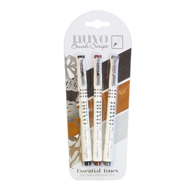 Nuvo - Brush Script Pens - Essential Tones - 110n