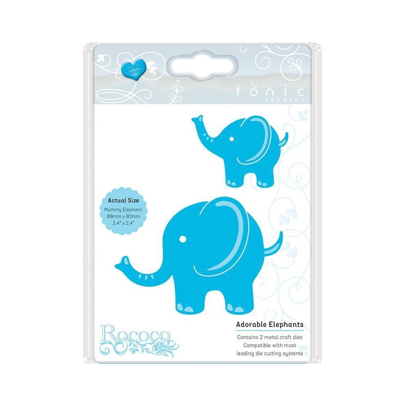 Tonic Studios - Rococo - Adorable Elephants Die Set - 1272e
