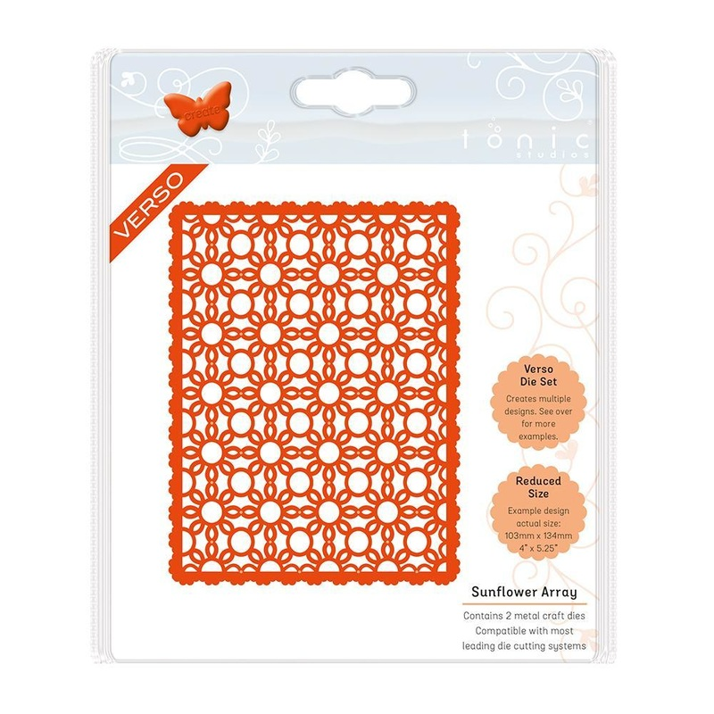 Tonic Studios - Classic Quatrefoil - Sunflower Array Die Set - 1335e