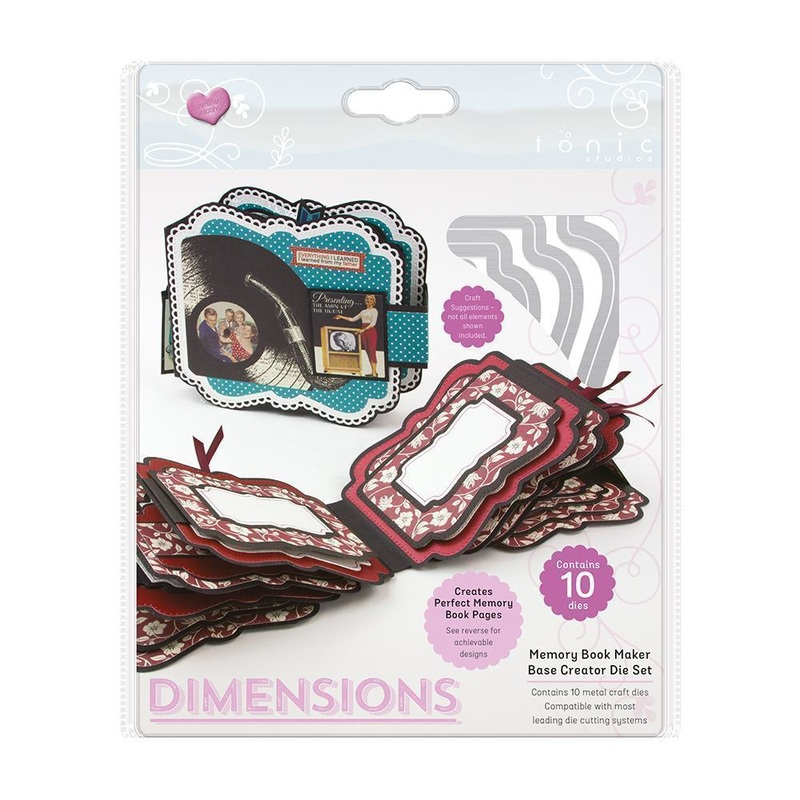 Tonic Studios - Dimensions - Memory Book Maker - Base Creator Die Set - 2118e