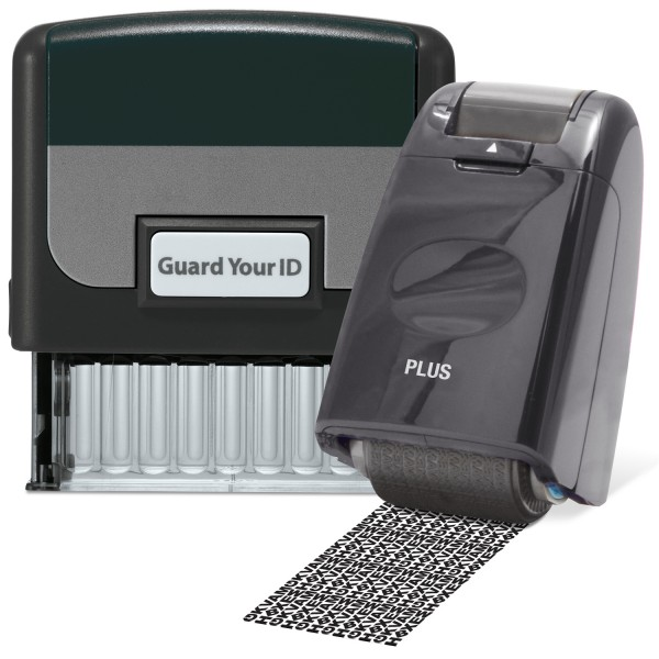 Guard Your ID Stamp & Roller - Black