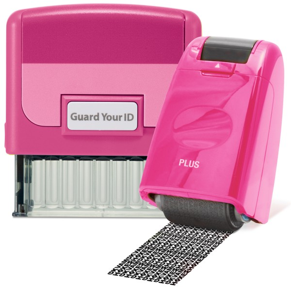 Guard Your ID Stamp & Roller - Pink