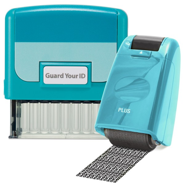 Guard Your ID Stamp & Roller - Turquoise