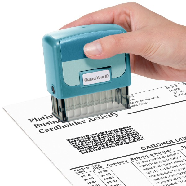 Guard Your ID Medium Stamp - Turquoise