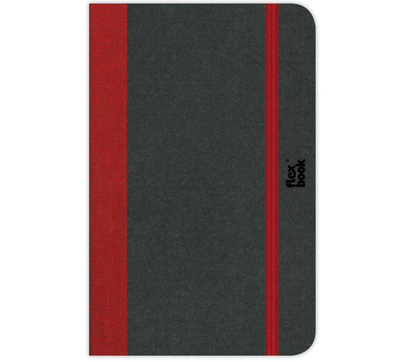 "Flexbook Notebooks Size: 6¾"" x 9½"" - Black - Blank"