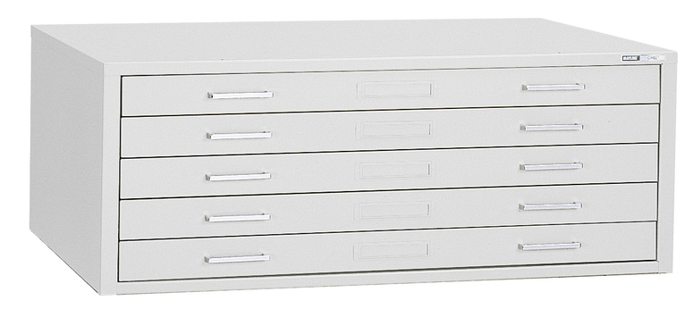 "Mayline C-File: 5 Drawers, White, 53 3/4""W x 41 3/8""D x 15 3/8""H"