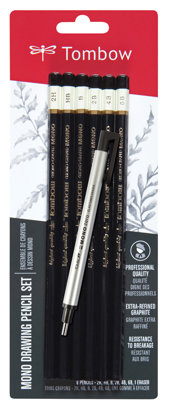 Tombow Mono® Drawing Pencils 6 Piece Set