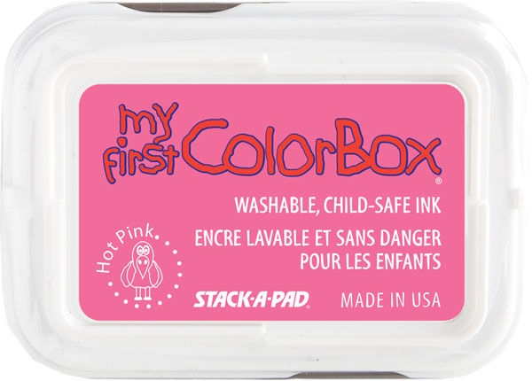 My First ColorBox® Washable Full Size Ink Pad Hot Pink; Color: Red/Pink; Format: Pad; Ink Type: Dye-Based; Shape: Full Size Rectangle; (model CS68047), price per each