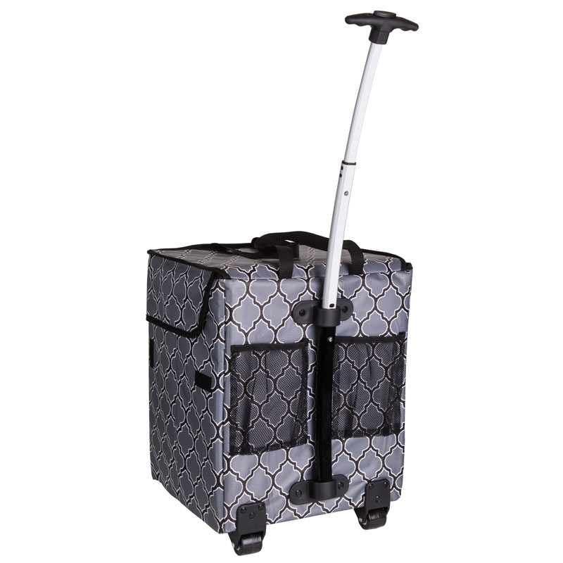 ArtBin Rolling Tote: Black and Gray
