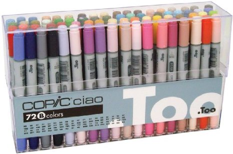 Copic Marker: 72-Color Set B