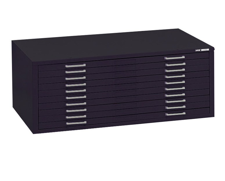 Mayline C-File: 10 Drawers, Black