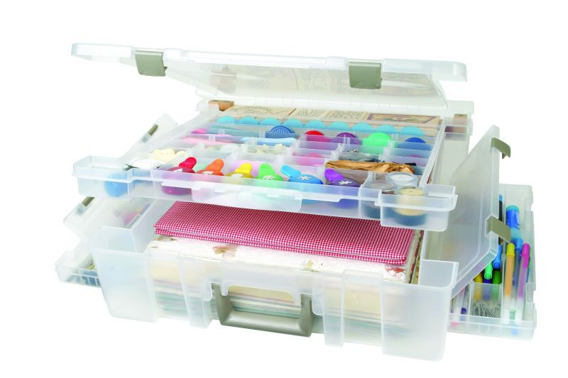 Artbin Super Satchel Deluxe Divided Lid/ 1 Compartment Base