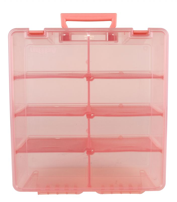Artbin Super Satchel Double Deep With Removable Dividers Coral