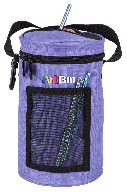 Mini Yarn Drum, Knitting And Crochet Tote Bag -periwinkle