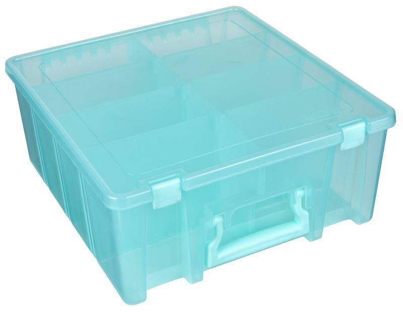 Artbin Super Satchel Double Deep With Removable Dividers Aqua
