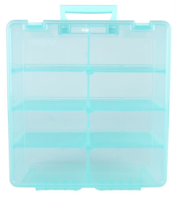 Super Satchel Double Deep With Removable Dividers Aqua