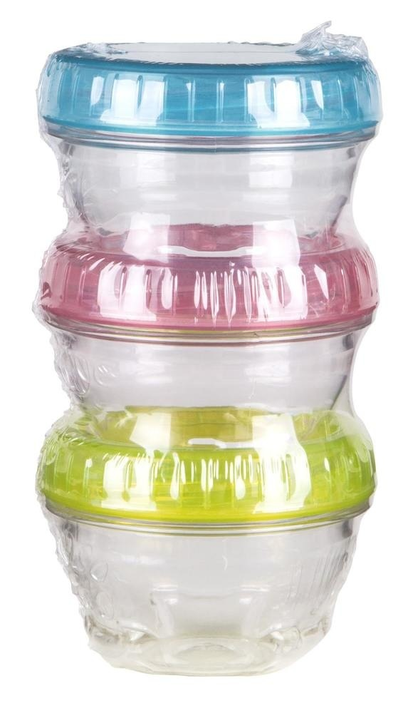 Twisterz Jars, 3 Pack With Colored Lids