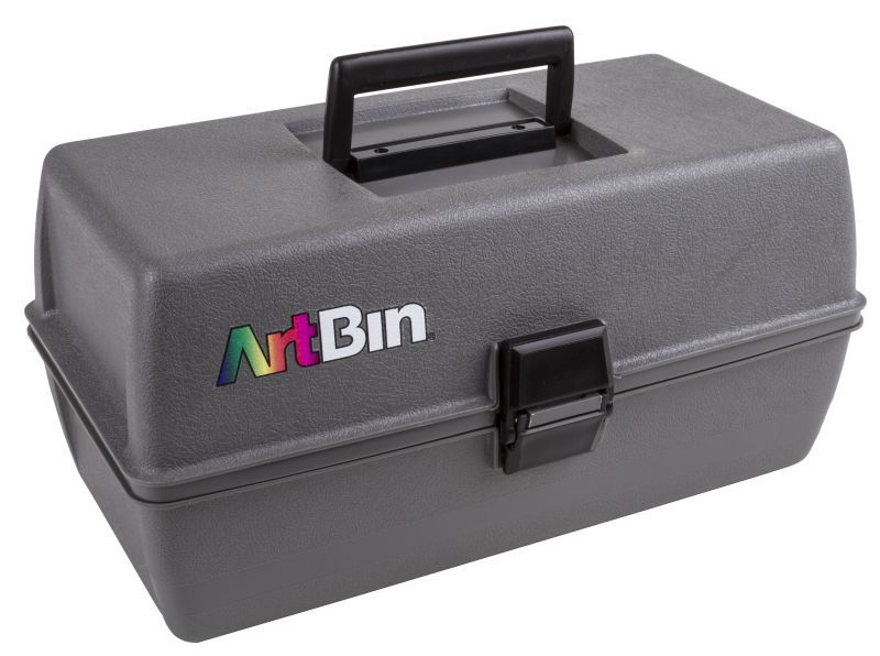 Artbin Upscale 2 Tray Box - Metal Links - Slate Gray