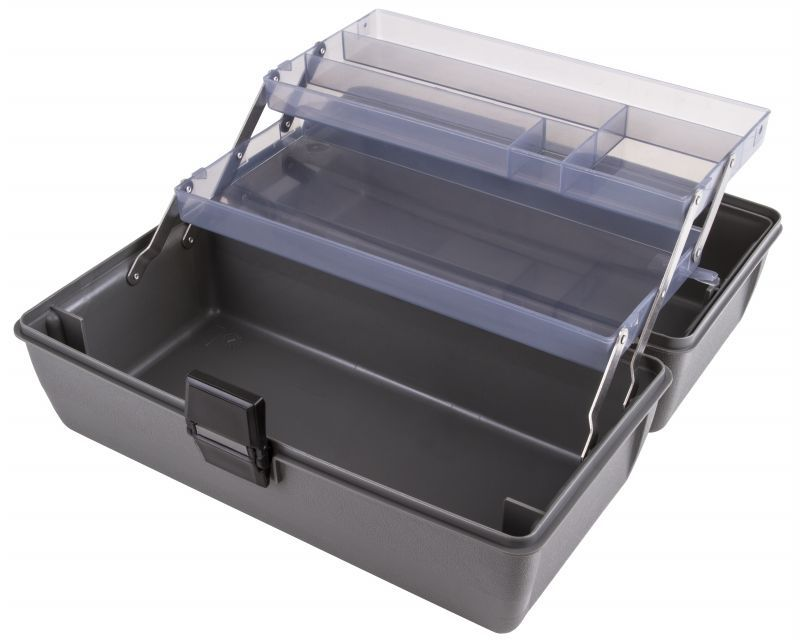 Upscale 2 Tray Box - Metal Links - Slate Gray