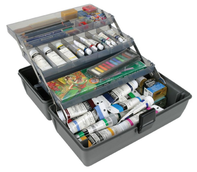 Artbin Upscale 3 Tray Box - Metal Links - Slate Grey