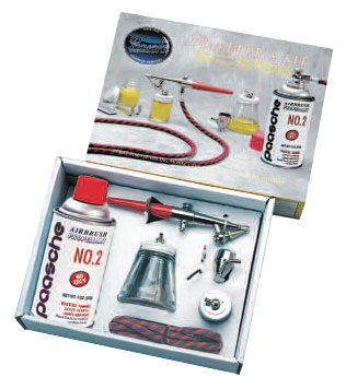 Paasche Single Action Kit with Propellant - 2P-H