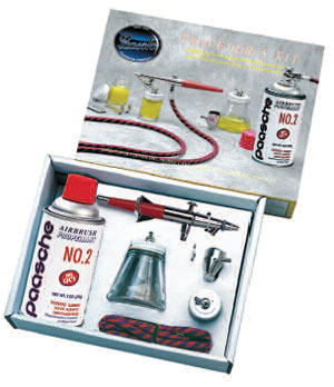 Paasche Double Action Kit with Propellant - 2P-VL