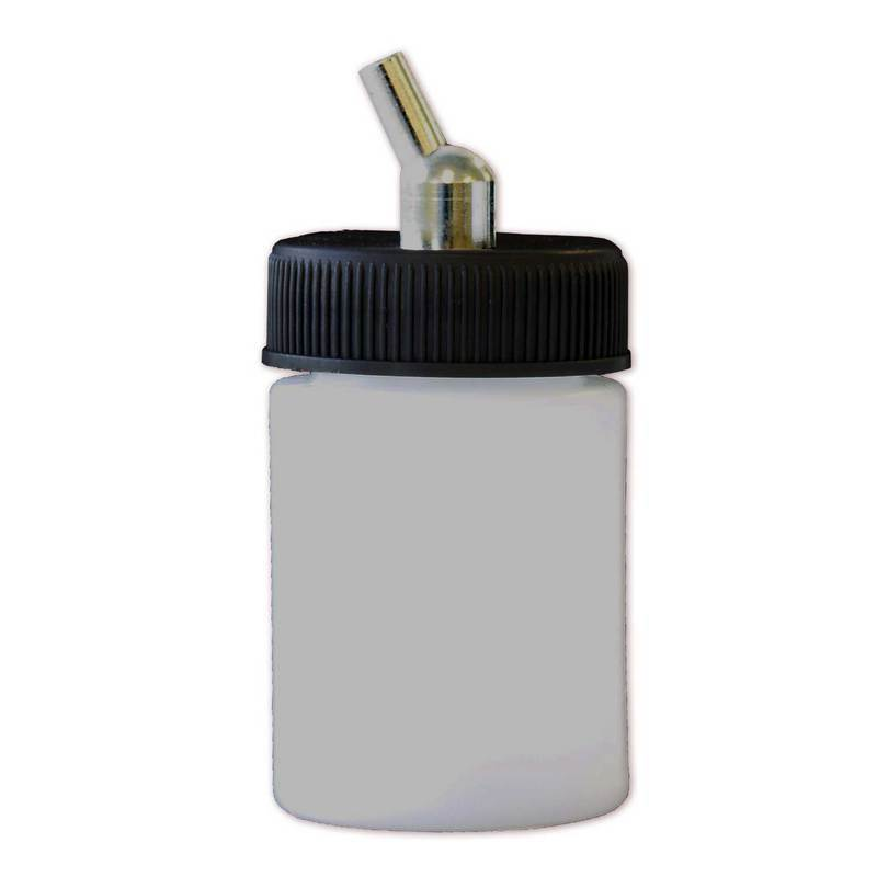 Paasche 1oz Plastic Bottle Assembly For VL, MIL, SI and TS - BA-60-1P