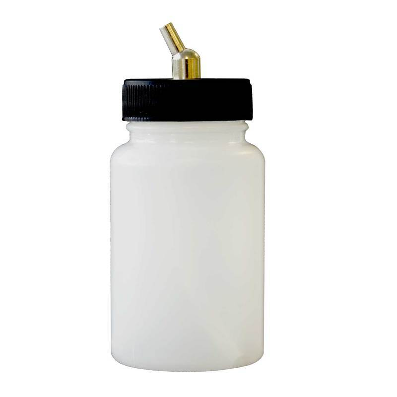 Paasche 3oz Plastic Bottle Assembly For VL, MIL, SI and TS - BA-60-3P