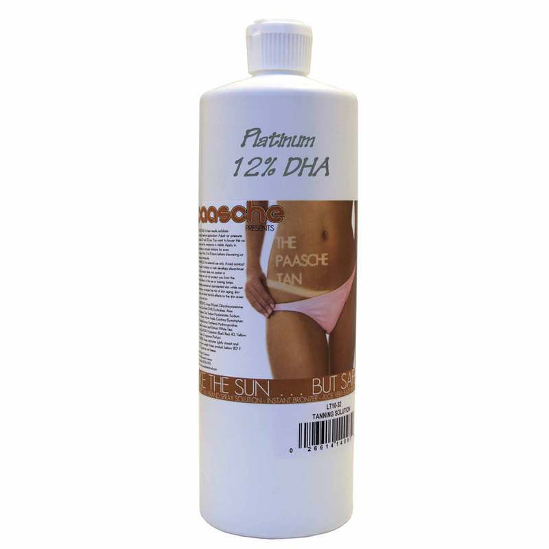 Paasche 32 Ounces Leisure Tan Solution (12% DHA) - LT12-32