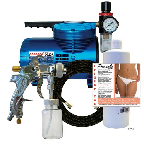 Paasche Airbrush Paasche Model D200T Tanning Set with D200 Air Compressor (1/6 hp.)