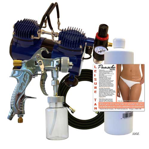 Paasche Deluxe Quick Application Tanning Kit - DA400T