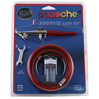 Paasche Single Action External Mix Airbrush Kit - F-CARD