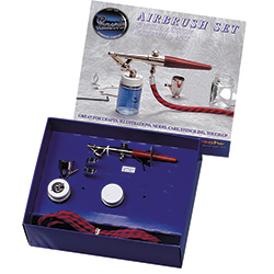 Paasche Single Action External Mix Airbrush Kit - F-SET