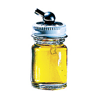Paasche 1/2 Ounce Glass Bottle Assembly For H Airbrush - H-1/2-OZ
