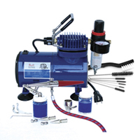 Paasche Single Action Airbrush & Compressor Package - H-100D