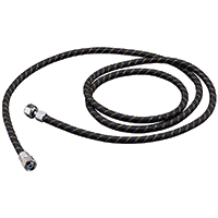 Paasche 20' Braided Air Hose with 1/4NPT couplings both ends - HL-3/16-20