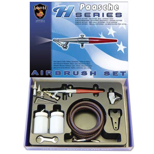Paasche HS-SET Single Action Siphon Feed Airbrush - HS-SET