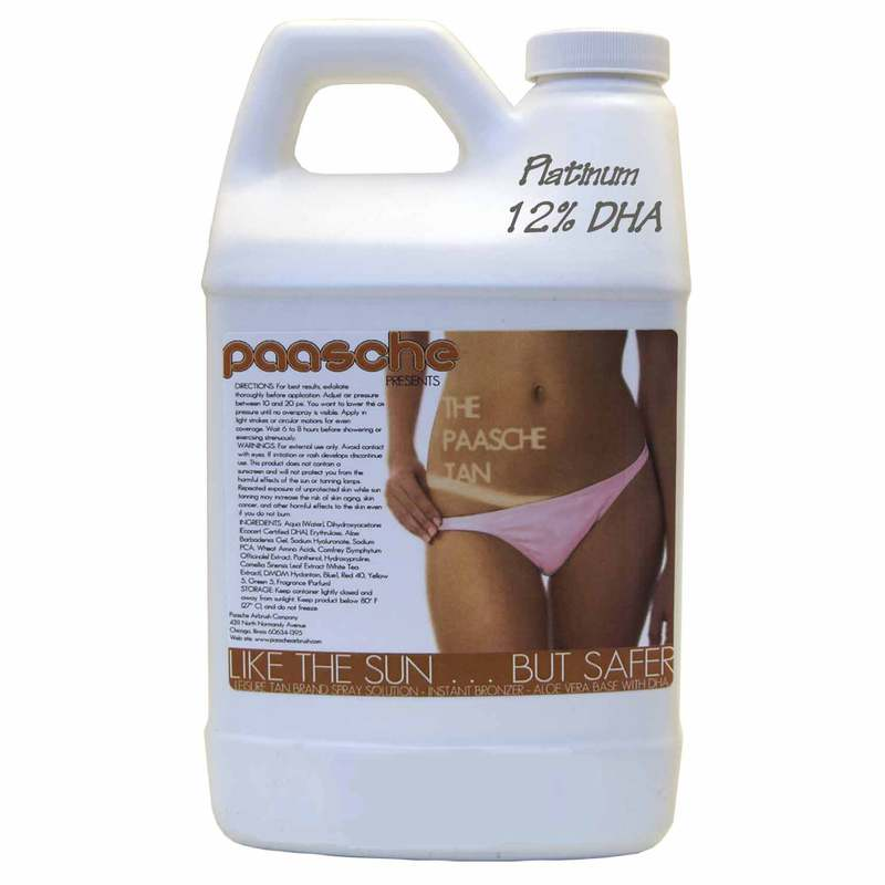 Paasche 64 Ounces Leisure Tan Solution (12% DHA) - LT12-64
