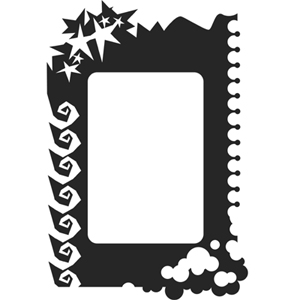 "Paasche ST-12 Tattoo Stencil: 6-1/2"" x 9"", Border Template"