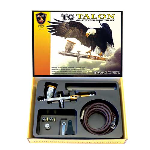 Paasche Airbrush Paasche Model TG-3F Talon with All Three Heads and Fan Aircap